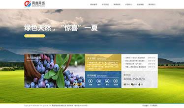 小清新农业水果企业 农林农家乐类企业网站